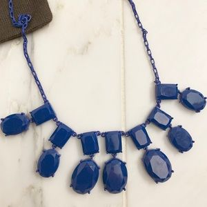 Electric blue Kate Spade ♠️ chandelier necklace